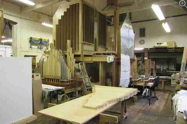 Mander Organs Main Workshop