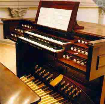 St Agnes Church Organ Console