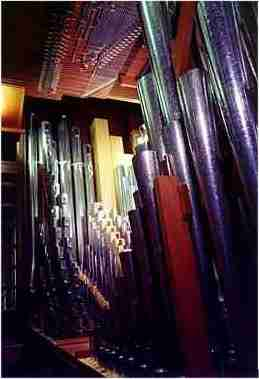 Pipes from the organ St Johns College Cambridge